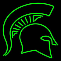 Michigan State Spartans Primary 1977 1982 Logo NCAA Neon Sign Neon Sign