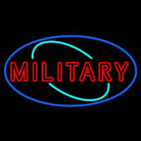 Military Neon Sign