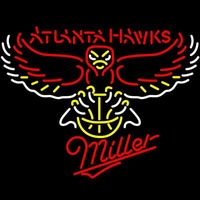 Miller Atlanta Hawks NBA Beer Sign Neon Sign