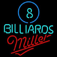 Miller Ball Billiards Pool Beer Neon Sign