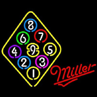 Miller Ball Billiards Rack Pool Neon Sign