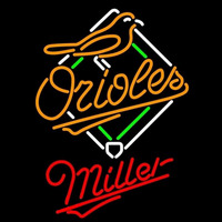 Miller Baltimore Orioles MLB Beer Sign Neon Sign