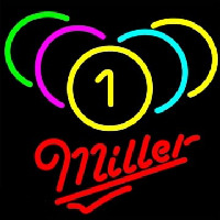 Miller Billiards Rack Pool Neon Sign