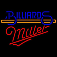 Miller Billiards With Stick Pool Neon Sign