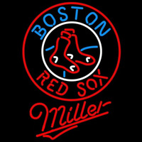 Miller Boston Red Sox MLB Beer Sign Neon Sign