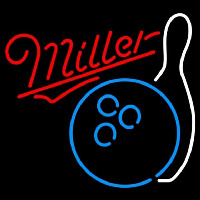 Miller Bowling Blue White Beer Sign Neon Sign