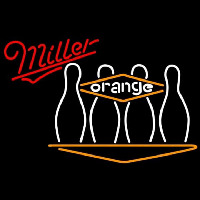 Miller Bowling Orange Beer Sign Neon Sign