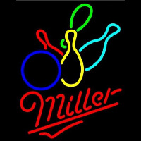 Miller Colored BowlingS Beer Sign Neon Sign