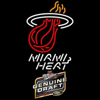 Miller Genuine Draft Miami Heat NBA Beer Sign Neon Sign