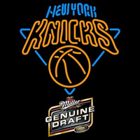 Miller Genuine Draft New York Knicks NBA Beer Sign Neon Sign