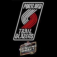 Miller Genuine Draft Portland Trail Blazers NBA Beer Sign Neon Sign