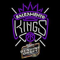 Miller Genuine Draft Sacramento Kings NBA Beer Sign Neon Sign