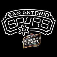 Miller Genuine Draft San Antonio Spurs NBA Beer Sign Neon Sign