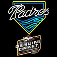 Miller Genuine Draft San Diego Padres MLB Beer Sign Neon Sign