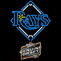 Miller Genuine Draft Tampa Bay Rays MLB Beer Sign Neon Sign