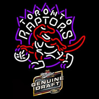 Miller Genuine Draft Toronto Raptors NBA Beer Sign Neon Sign