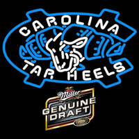 Miller Genuine Draft Unc North Carolina Tar Heels MLB Beer Sign Neon Sign