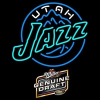 Miller Genuine Draft Utah Jazz NBA Beer Sign Neon Sign