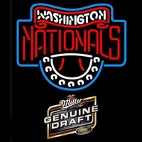 Miller Genuine Draft Washington Nationals MLB Beer Sign Neon Sign