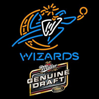 Miller Genuine Draft Washington Wizards NBA Beer Sign Neon Sign