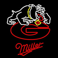 Miller Georgia Bulldogs Uga Logo NCAA Beer Sign Neon Sign