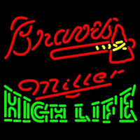 Miller High Life Atlanta Braves MLB Beer Sign Neon Sign
