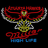 Miller High Life Atlanta Hawks NBA Beer Sign Neon Sign