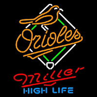 Miller High Life Baltimore Orioles MLB Beer Sign Neon Sign