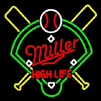 Miller High Life Baseball Neon Sign