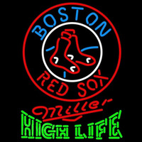 Miller High Life Boston Red Sox MLB Beer Sign Neon Sign