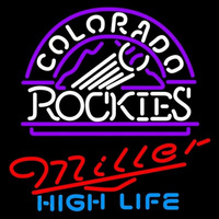 Miller High Life Colorado Rockies MLB Beer Sign Neon Sign