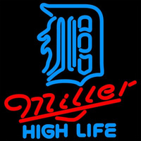 Miller High Life Detroit Tigers MLB 16x16 Beer Sign Neon Sign