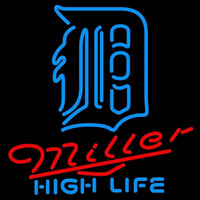 Miller High Life Detroit Tigers MLB Beer Sign Neon Sign