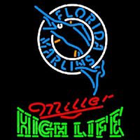 Miller High Life Florida Marlins MLB Beer Sign Neon Sign