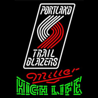 Miller High Life Green Portland Trail Blazers NBA Beer Sign Neon Sign