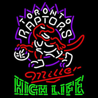 Miller High Life Green Toronto Raptors NBA Beer Sign Neon Sign