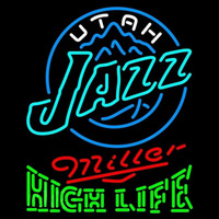 Miller High Life Green Utah Jazz NBA Beer Sign Neon Sign