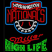 Miller High Life Green Washington Nationals MLB Beer Sign Neon Sign