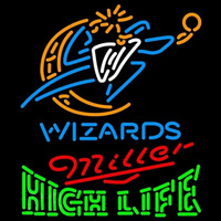 Miller High Life Green Washington Wizards NBA Beer Sign Neon Sign