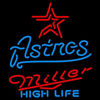 Miller High Life Houston Astros MLB Beer Sign Neon Sign