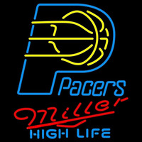 Miller High Life Indiana Pacers NBA Beer Sign Neon Sign