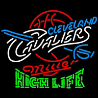 Miller High Life Logo Cleveland Cavaliers NBA Beer Sign Neon Sign