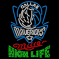Miller High Life Logo Dallas Mavericks NBA Beer Sign Neon Sign