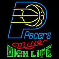 Miller High Life Logo Indiana Pacers NBA Beer Sign Neon Sign