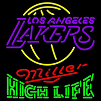 Miller High Life Logo Los Angeles Lakers NBA Beer Sign Neon Sign