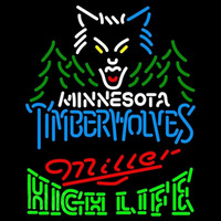 Miller High Life Logo Minnesota Timberwolves NBA Beer Sign Neon Sign