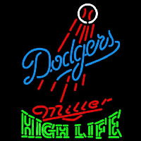 Miller High Life Los Angeles Dodgers MLB Beer Sign Neon Sign