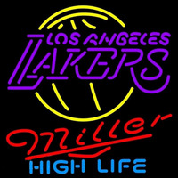 Miller High Life Los Angeles Lakers NBA Beer Sign Neon Sign
