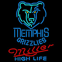 Miller High Life Memphis Grizzlies NBA Beer Sign Neon Sign