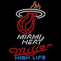 Miller High Life Miami Heat NBA Beer Sign Neon Sign
